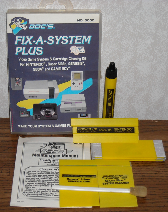 Vintage Gaming Cleaning Kits - Doc's video games
