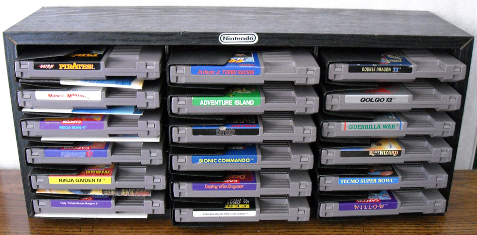 Video Game Storage Part 3 on leather cartridge box