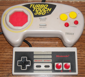 The Turbo Touch 360 dwarfs the original NES controller!